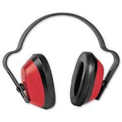 Ear Defender Durable Polystyrene 23dB SNR Red and Black