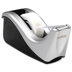 Scotch Contour Magic Tape Dispenser with 1 Roll 19mmx33m Grey Ref C60-ST