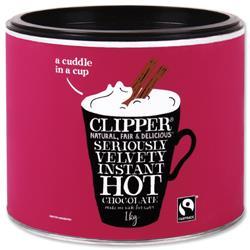 Clipper Fairtrade Hot Chocolate Tin 1kg Ref 0403263