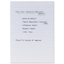 5 Star Office Memo Pad Headbound Feint Ruled 80 Sheets A4 White [Pack 10]