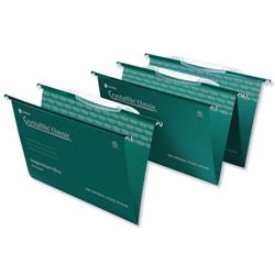 Rexel Crystalfile Classic Suspension File with Link Tabs V-base Foolscap Ref 3000030 - Pack 50