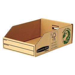 Bankers Box by Fellowes Parts Bin Corrugated Fibreboard Packed Flat W200xD280xH102mm Ref 07355 - Pack 50