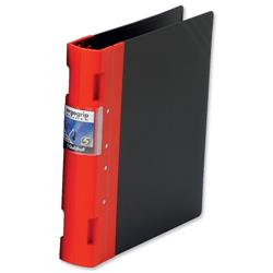 Guildhall GLX Ergogrip Binder Capacity 400 Sheets 4x 2 Prong 55mm A4 Red Ref 4533Z - Pack 2