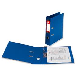 5 Star Office Lever Arch File PVC Spine 70mm A4 Royal Blue [Pack 10]