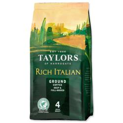 Taylors of Harrogate Rich Italian Coffee Roast & Ground Dark Roast 227g Ref 3676
