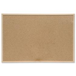 5 Star Eco Noticeboard Cork with Pine Frame W900xH600mm