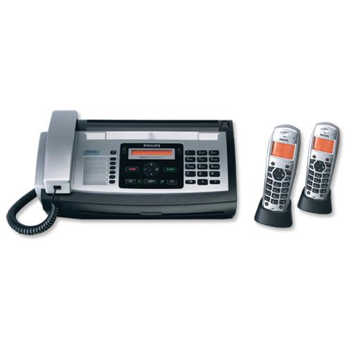 philips magic 5 eco voice fax and answer machine 2 handsets 50 speed dials 50pp memory ref. Black Bedroom Furniture Sets. Home Design Ideas