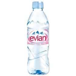Evian Natural Mineral Water Bottle Plastic 500ml Ref 01210 - Pack24