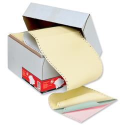 5 Star Office Listing Paper 4-Part Microperforated 80/50/50/55gsm Carbonless A4 4 Colours [500 Sheets]