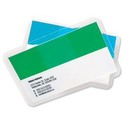 GBC Business Card Laminating Pouches 250 Micron Gloss Ref 3743157 (100 Pack)