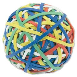 5 Star Office Rubber Band Ball of 200 Bands Natural Rubber Assorted