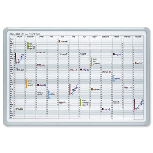 Grid Ref Finder >> Buy Franken Year Calendar Planner With 2 Markers 3 Magnets Day Grid 57x13mm W900xH600mm Ref ...