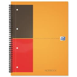 Oxford International Classic Notebook 160pp Ruled Perforated A4+ Orange/Grey Ref 100104036 - Pack 5