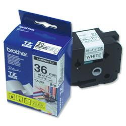Brother P-touch TZE 261 Black on White 36mm x 8m TZE Tape Labels Ref TZE261