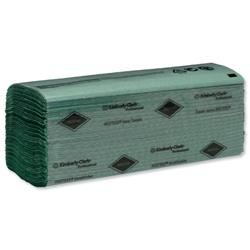 Hostess Hand Towels Single Ply 224 Sheets per Sleeve 240x240mm Green Ref 6871 - 24 Sleeves