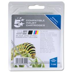 5 Star Office Remanufactured Inkjet Cartridges C/M/Y/K [Epson T12954010 Alternative] [Pack 4]