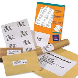 Avery White Copier Labels 4 per Sheet 105x148mm White Ref 3483 - 400 Labels
