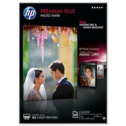 Hewlett Packard HP Premium Plus Photo Paper Glossy 300gsm A4 Ref CR674A - 50 Sheets