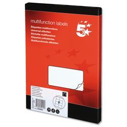 5 Star Office Labels Laser Copier and Inkjet 8 per Sheet 105x71mm [800 Labels]
