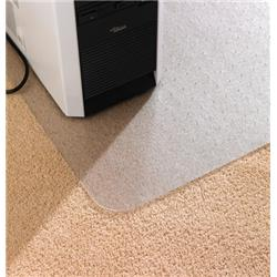 Cleartex Advantagemat Antibacterial Chair Mat For Carpet 1200x900mm Clear Ref FCAB119026EV