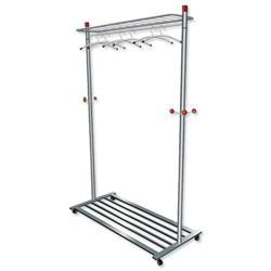 Coat and Garment Rack Mobile 4 Wheels Shelves Capacity 40-50 Hangers