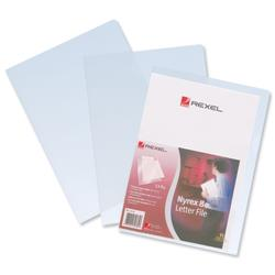 Rexel Nyrex 80 Letter File Folder Cut Flush Embossed 80/LF/A4 A4 Clear Ref 12280 - Pack 25