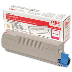 OKI Magenta Laser Toner Cartridge for C5550 MFP/C5800/C5900 Ref 43324422