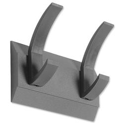 Acorn Hat and Coat Wall Rack with Concealed Fixings 2 Hooks Graphite