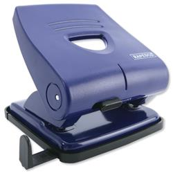 Rapesco 827-P 2-Hole Punch ABS-top Capacity 27x 80gsm Blue Ref PF827PL2