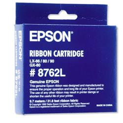 Epson SIDM Fabric Ribbon Cartridge For LX-86/80/GX-80 Black Ref C13S015053