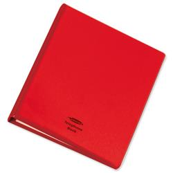 Telephone Index and Address Book Binder with Matching A-Z Index and 20 Sheets A5 Red
