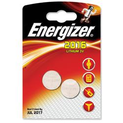 Energizer CR2016 Lithium Battery for Small Electronics 5000LC 90mAh 3V Ref 626986 - Pack 2