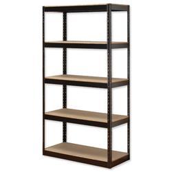 Influx Storage Shelving Unit Heavy-duty Boltless 5 Shelves Capacity 5x 150kg W950xD450xH1880mm Black