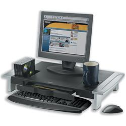 Fellowes Office Suites Monitor Riser Large Height-adjustable with Storage Tray Capacity 36kg Ref 80310