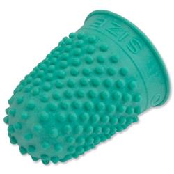 Quality Rubber Finger Cone Thimblette Size 0 Green Ref 265478 - Pack 10