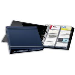Durable Visifix Business Card Album 4-ring A-Z Index Capacity 400 A4 Dark Blue Ref 2388-07