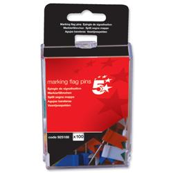 5 Star Office Marking Flags Assorted [Pack 100]