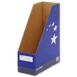 5 Star Elite Magazine File Quick-assemble A4 Plus Blue [Pack 10]