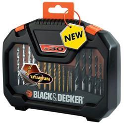 Black & Decker Drilling and Screwdriver Mixed Accessory Set Ref A7183 [Set 30]