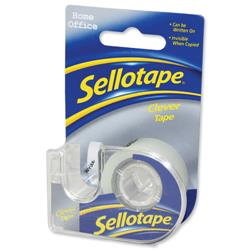 Sellotape Clever Tape Dispenser Roll Write-on Copier-friendly Tearable 18mmx25m Matt Ref 1766010 [Pack 6]