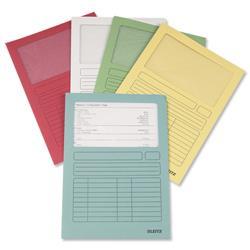 Leitz Window Folder 160gsm A4 Assorted Ref 3950-99-99 - Pack 100