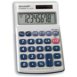 Sharp EL240SAB Hand-held Calculator Battery Solar-power 8 Digit 3 Key Memory 70x116x16mm Ref EL240SAB