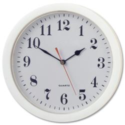 Wall Clock With Coloured Case Diameter 250mm White