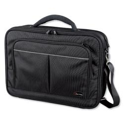 Lightpak Executive Laptop Bag Padded Muti-section Nylon Capacity 17in Black Ref 46029