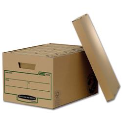 Bankers Box by Fellowes Earth Storage Box Large Ref 4470701 [Pack 10]