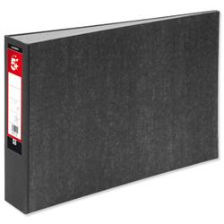 5 Star Office Lever Arch File 70mm Spine Oblong Landscape A3 Cloudy Grey [Pack 2]