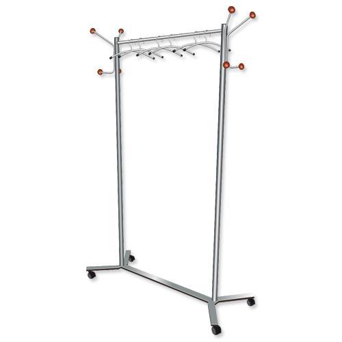 Buy 400 Star Facilities Coat Rack Mobile 40 Wheels Metal Frame Capacity Cool Buy A Coat Rack