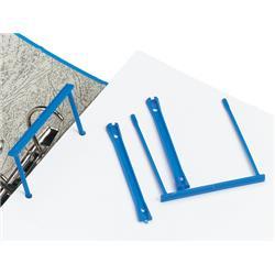 5 Star Office Filing Clip Polypropylene Blue [Pack 10]