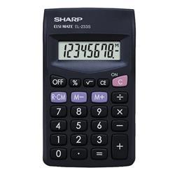 Sharp EL233SBK Calculator Pocket Ref EL233SBK