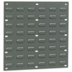 Louvred Panel Double Indented W457xH438mm Grey [Pack 2]